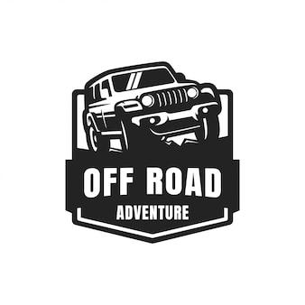 Logotipo de insignia de vector off road