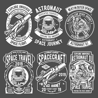 Logotipo de insignias de astronauta