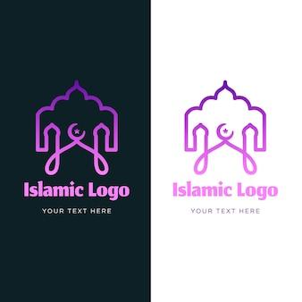 Logotipo islámico en dos colores.