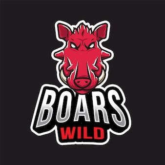 Logotipo de jabalí esport