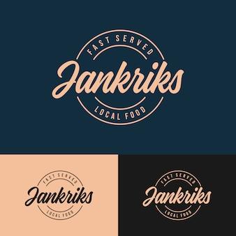 Logotipo de jankriks coffee shop