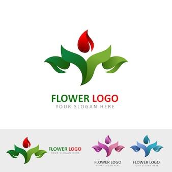 Logotipo del jardín de flores