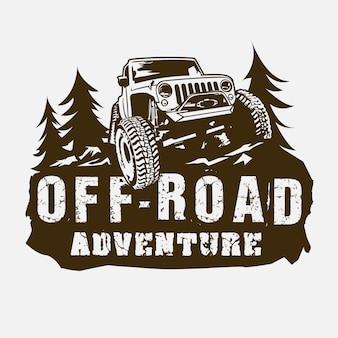 Logotipo de jeep adventure off road