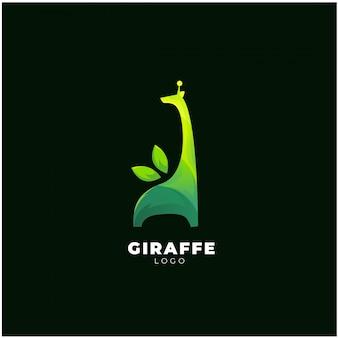 Logotipo de jirafa verde