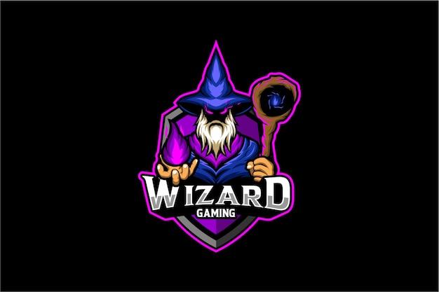 Logotipo de juego de brujo
