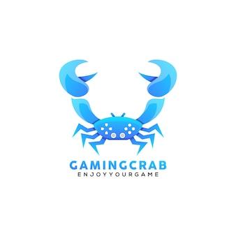 Logotipo de juego de cangrejo
