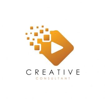 Logotipo de juego digital