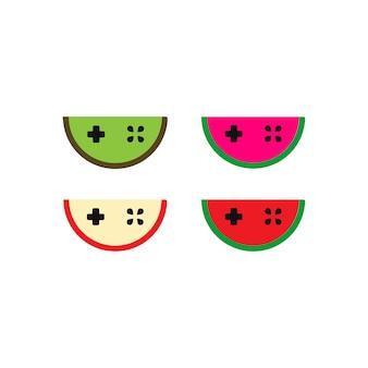 Logotipo del juego de frutas