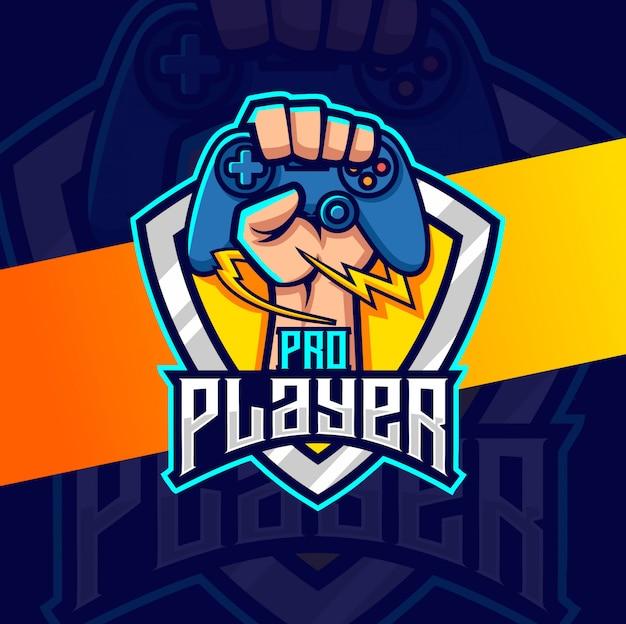 Logotipo del juego de jugador profesional esport