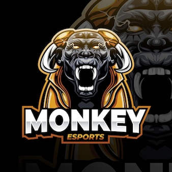 Logotipo de juego de mascota detallado