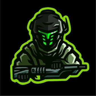 Logotipo de juego de la mascota del ejército