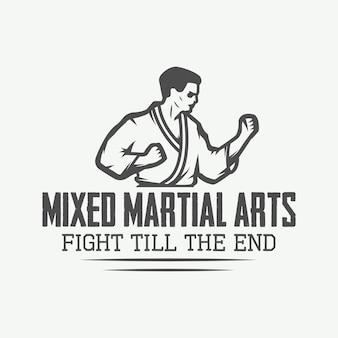 Logotipo de karate, emblema