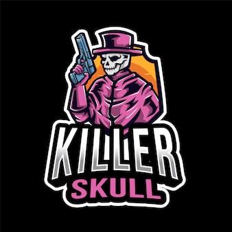 Logotipo de killer skull esport