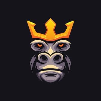 Logotipo de king kong e sport de ilustración