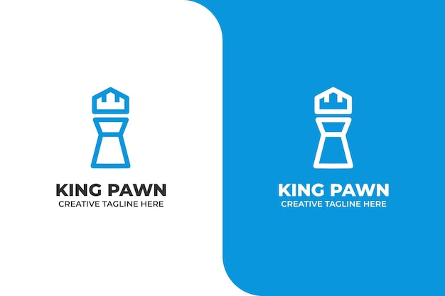 Logotipo de king pawn chest sport play