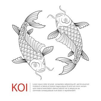 Logotipo de koi carp