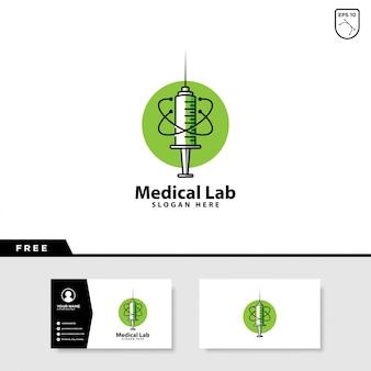 Logotipo de laboratorio médico
