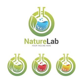 Logotipo de laboratorio de la naturaleza