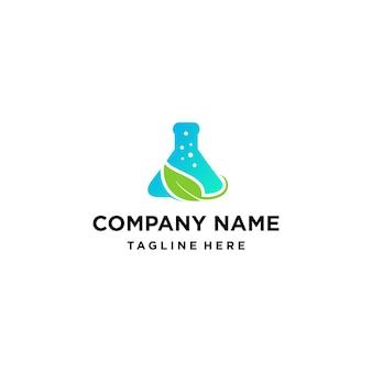 Logotipo de laboratorio verde natural