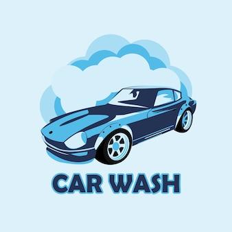 Logotipo de lavado de automóviles