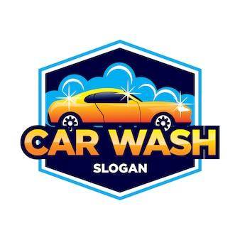 Logotipo de lavado de autos y detalles