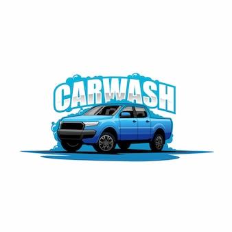 Logotipo de lavado de autos