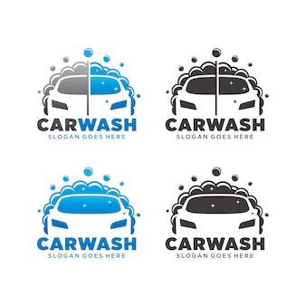 Logotipo de lavado de coches tempate
