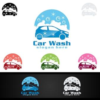 Logotipo de lavado de coches