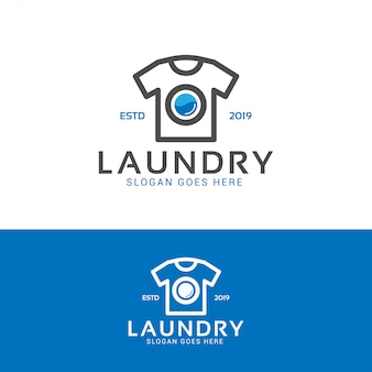 Logotipo de lavado de lavandería