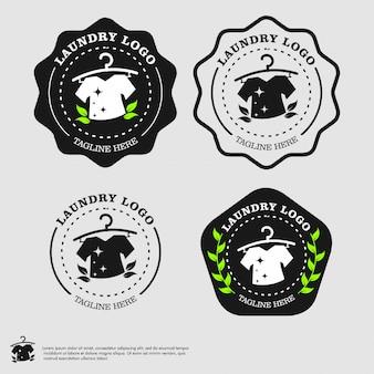 Logotipo de lavandería vector plantilla