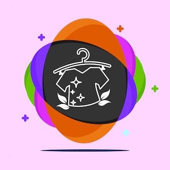Logotipo de lavandería vector