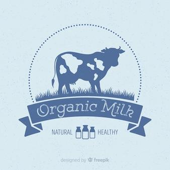 Logotipo de leche orgánica
