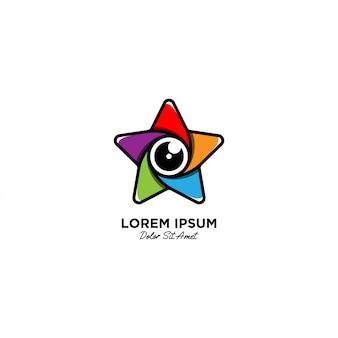 Logotipo de lente de estrella