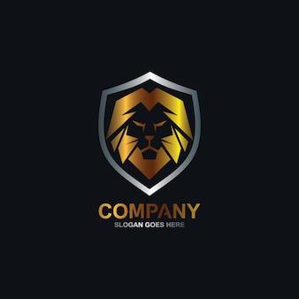 Logotipo de león y escudo