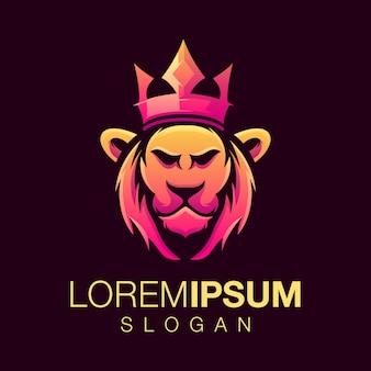 Logotipo de león gardient
