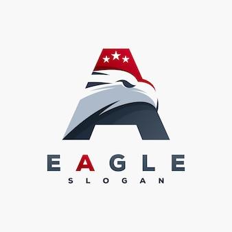 Logotipo de la letra a del águila listo para usar