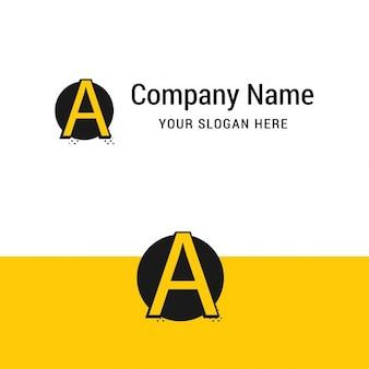 Logotipo de letra a amarilla