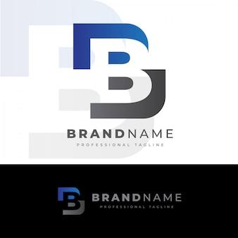 Logotipo de la letra b creativa
