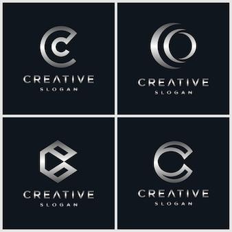 Logotipo de letra c bundel