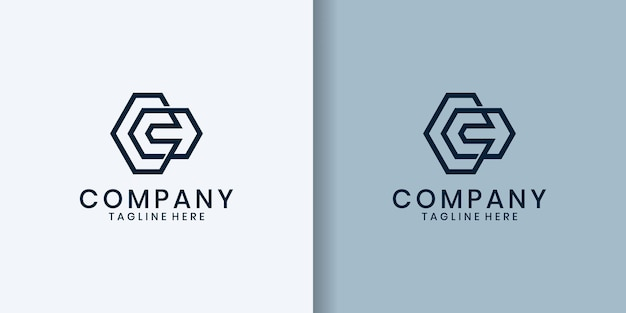 Logotipo de letra c minimalista simple