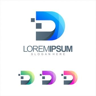 Logotipo de la letra d tech
