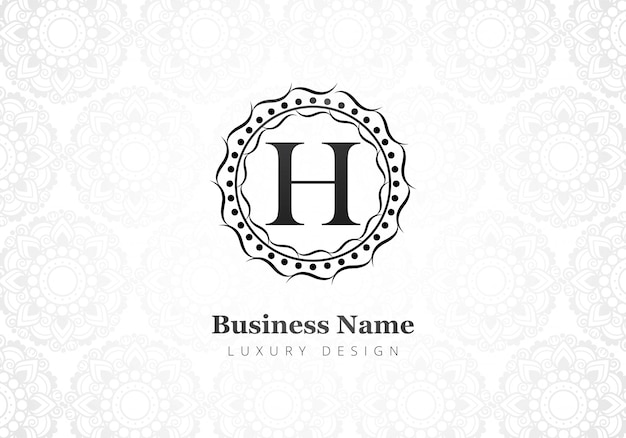 Logotipo de la letra h creativa de lujo premium para empresa