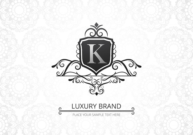 Logotipo de la letra k creativa de lujo premium para empresa