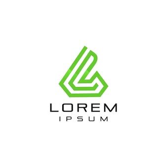 Logotipo de la letra l abstracto con línea de forma moderna