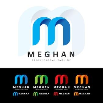 Logotipo de la letra m creativa