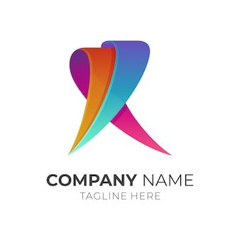 Logotipo de la letra r de la cinta