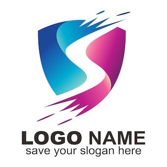 Logotipo de la letra s de protección