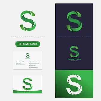 Logotipo de la letra s vector premium