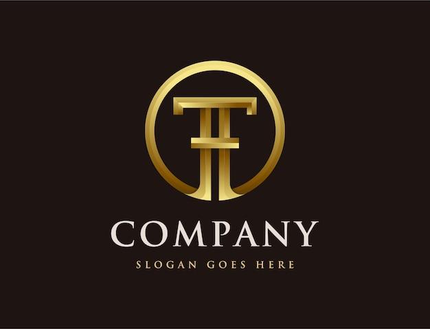Logotipo de la letra t de elegancia