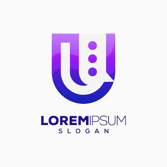 Logotipo de la letra u chat